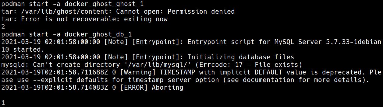 permission denied podman-compose